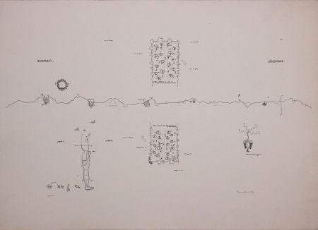 Lithographie Baruchello - Campioni