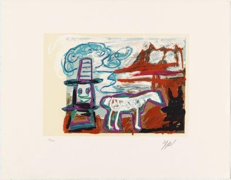 Lithographie Appel - Can we dance a landscape?