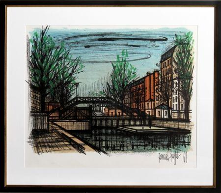 Lithographie Buffet - Canal St. Martin