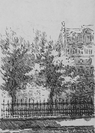 Eau-Forte Castellani - Cancellata del British Museum