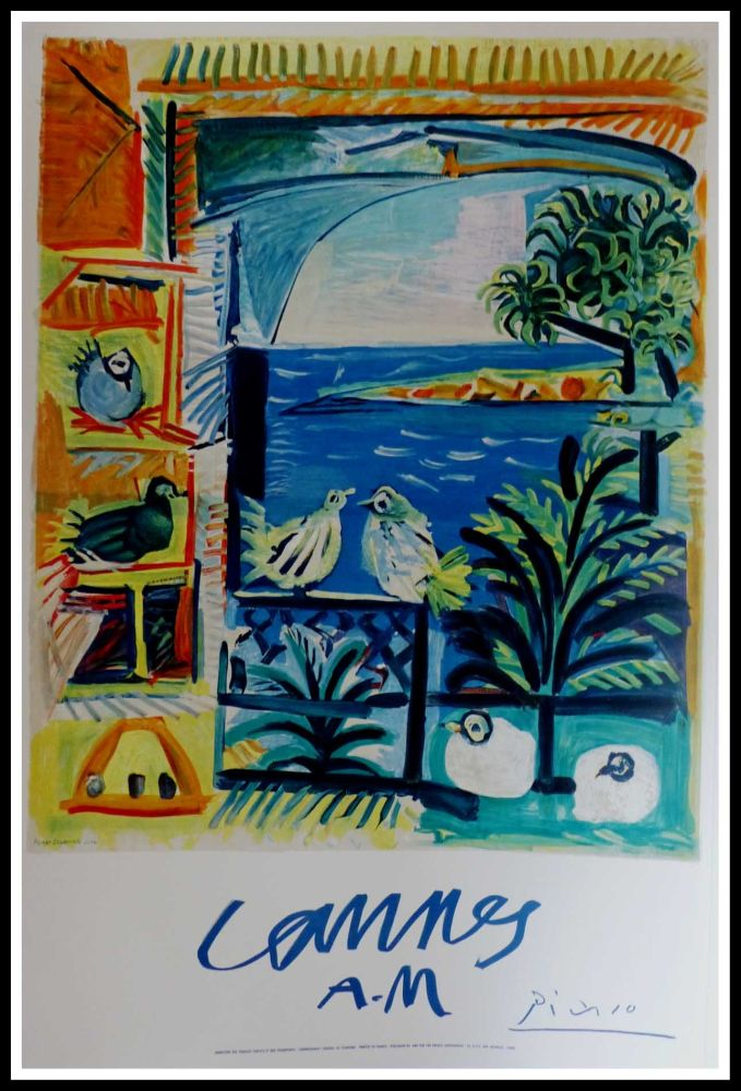 Lithographie Picasso - CANNES A.M