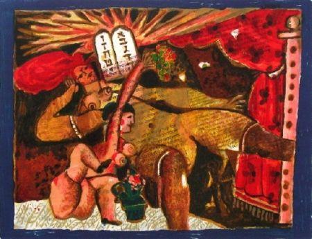 Lithographie Tobiasse - Cantique des cantiques v