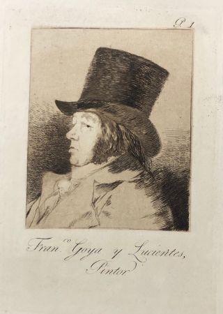Eau-Forte Goya - Capricho1. Francisco , Goya y Lucientes pintor