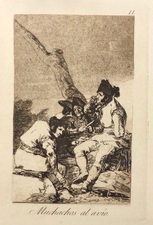 Eau-Forte Goya - Capricho 11. Muchachos al avio