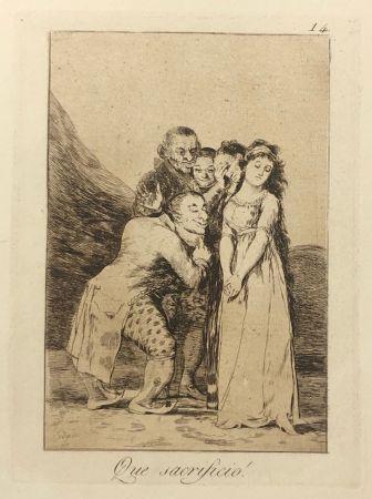 Eau-Forte Goya - Capricho 14. Que sacrificio
