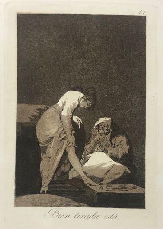 Eau-Forte Goya - Capricho 17. Bien tirada está