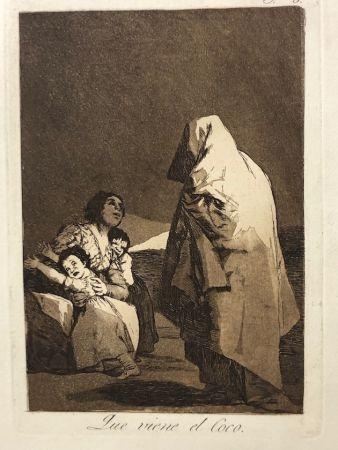 Eau-Forte Goya - Capricho 3. Que viene el coco