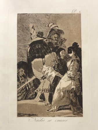 Eau-Forte Goya - Capricho 6. Nadie se conoce