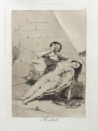Eau-Forte Goya - Capricho 9. Tantalo