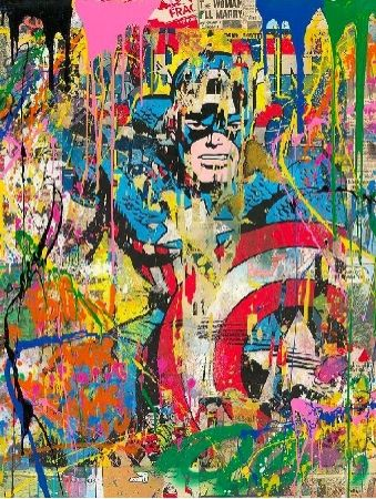 Sérigraphie Mr Brainwash - Captain America, 2020