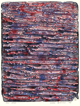 Lithographie Bowen - Car Chaos