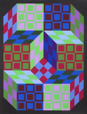 Sérigraphie Vasarely - Carden