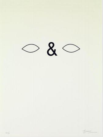 Lithographie Brossa - Careta. 1988