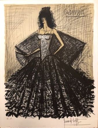 Lithographie Buffet - Carmen
