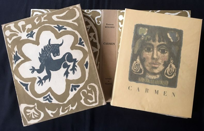 Livre Illustré Clavé - CARMEN. Lithographies originale de Clavé
