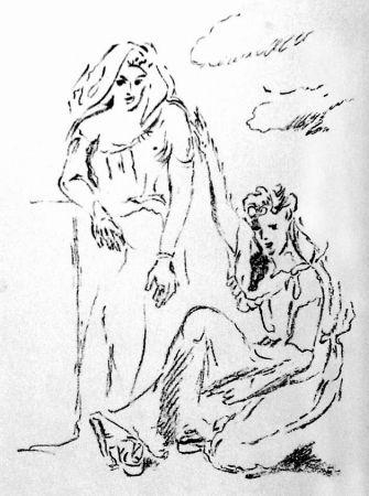 Lithographie De Pisis - Carmi di Catullo XI