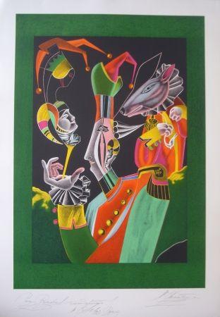 Lithographie Chemiakin - Carnaval