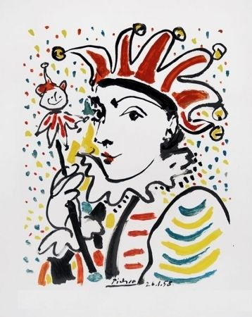 Lithographie Picasso - CARNAVAL