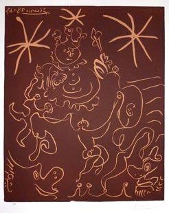 Linogravure Picasso - Carnaval 1967