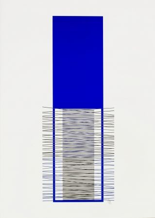 Sérigraphie Soto - Caroni (Blue)