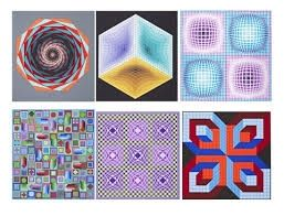 Sérigraphie Vasarely - Carpeta Jalons