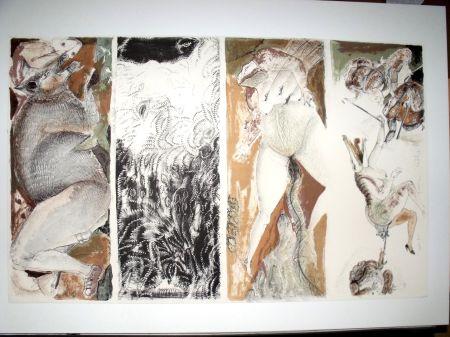 Lithographie Toledo - Carta para felicitar a un cochino