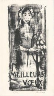 Lithographie Jansem - Carte de voeux