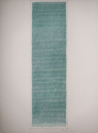 Lithographie Hernandez Pijuan - Cartel avant la lettre de las exposiciones Galeria Joan Prats y Galeria Ciento
