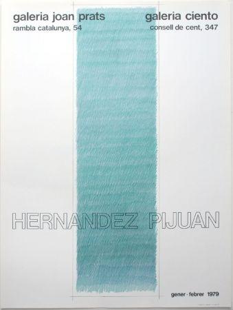Lithographie Hernandez Pijuan - Cartel de las exposiciones Galeria Joan Prats y Galeria Ciento, Barcelona.