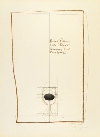 Lithographie Hernandez Pijuan - Cartel exposición Sala Gaspar