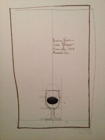 Lithographie Hernandez Pijuan - Cartel Firmado de la Exposición de la Sala Gaspar