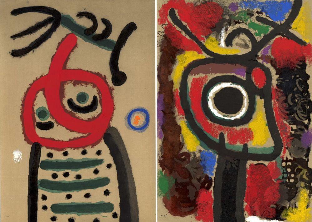Livre Illustré Miró - CARTONES. New-York 1965