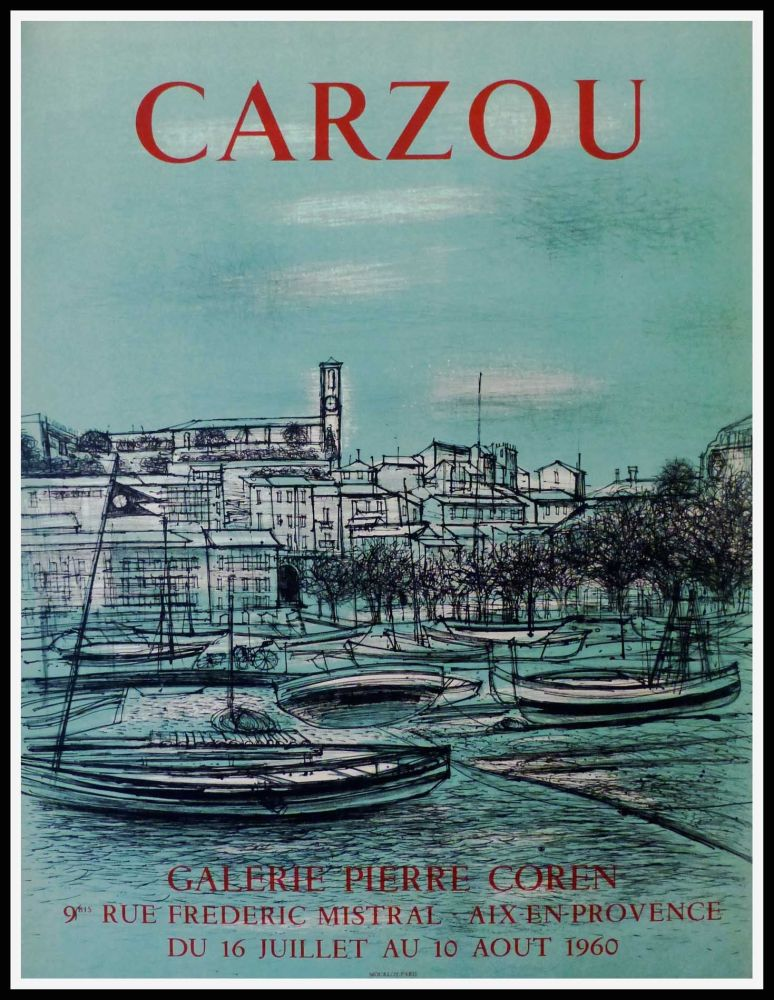 Affiche Carzou - CARZOU GALERIE PIERRE COREN, AIX EN PROVENCE