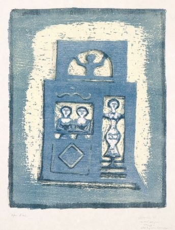 Lithographie Campigli - Case