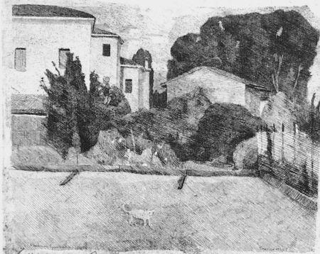 Eau-Forte Barbisan - Case di periferia