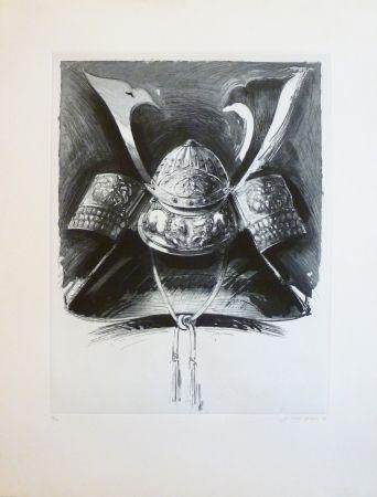 Eau-Forte Et Aquatinte Titus Carmel - Casque de Nikko 2