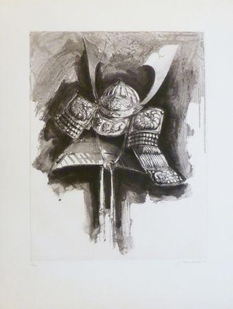 Eau-Forte Et Aquatinte Titus Carmel - Casque de Nikko IV