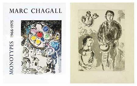 Livre Illustré Chagall - Catalogue Des Monotypes