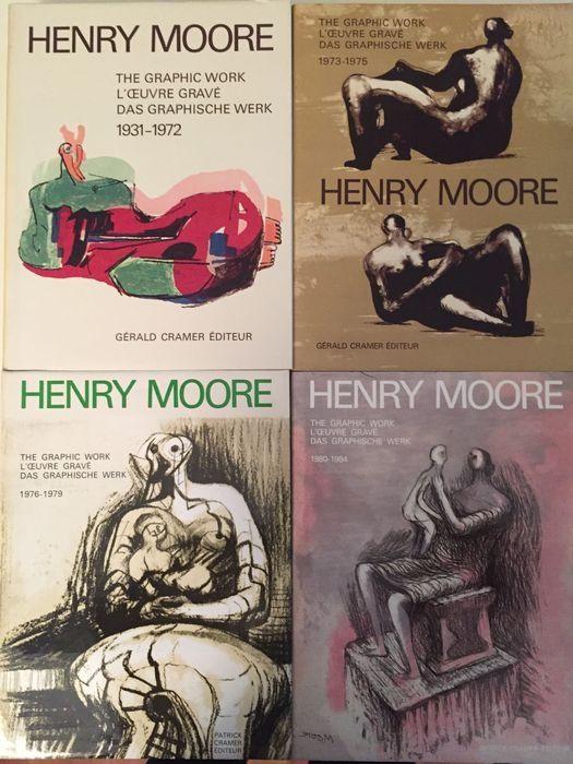 Livre Illustré Moore - Catalogue Raisonné of Henry Moore Graphic Work 1931 - 1984 (4 Volume Set)