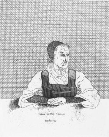 Gravure Hockney - Catharina Dorothea Viehman