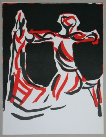 Lithographie Marini - Cavalier