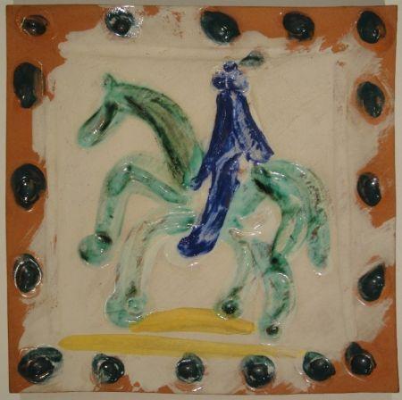 Céramique Picasso - Cavalier and horse / Cavalier et cheval