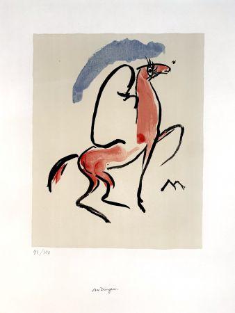 Lithographie Van Dongen - Cavalier Arabe