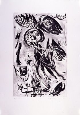 Gravure Pedersen - Cavalier noir