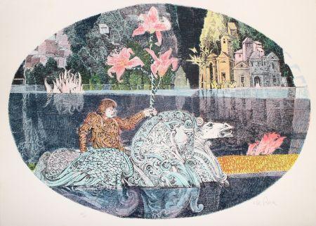 Lithographie De Rosa - Cavaliere
