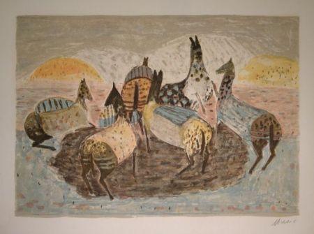 Lithographie Music - Cavallini Che Giacano / Spielende Pferde