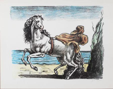 Lithographie De Chirico - Cavallo con manto