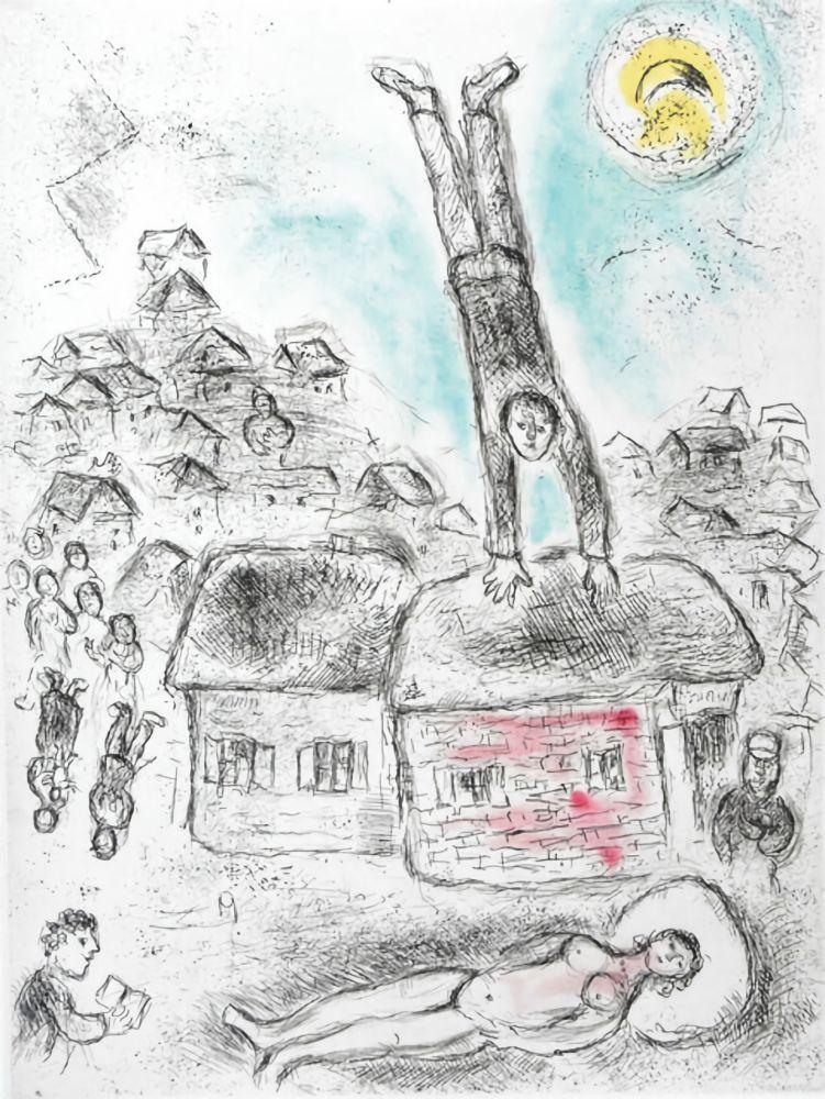 Aucune Technique Chagall -  Ce lui qui dit les choses sans rien dire (Plate 10)