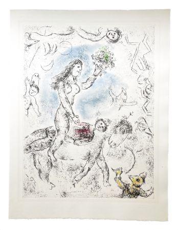 Eau-Forte Et Aquatinte Chagall - Ce lui qui dit les choses sans rien dire (Plate 22)