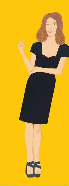 Sérigraphie Katz - Cecily (from Black Dress series)